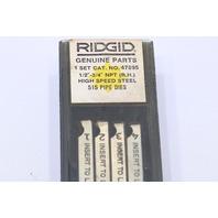 "* RIDGID 47895 1/2""-3/4"" NPT 1 SET HIGH SPEED 515 PIPE DIES RIGHT HAND"
