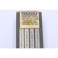 "* RIDGID 50965 1"" - 2"" 11 45° BVL 1 SET HIGH SPEED UNV PIPE DIES RIGHT HAND"