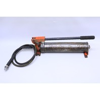 * ENERPAC P 80 HYDROLIC HAND PUMP 10000 PSI WITH HOSE
