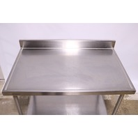 * Eagle Group Spec Master Work Table 48in X 30in SS Top 4-1/2in Backsplash