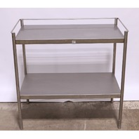 "* STAINLESS STEEL STAND TABLE 34"" x 18"" x 32-1/2"" BOTTOM SHELF"