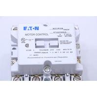 EATON  CUTLER HAMMER A201K1DA MODEL J  NON-REVERSING FRONT CONNECTED CONTACTORS