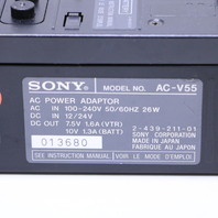 SONY AC-V55 POWER ADAPTOR  W/ 2 NP-98 BATTERY PACKS