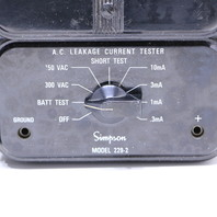 QTY (1) SIMPSON 229-2 CURRENT LEAKAGE TESTER