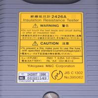 YOKOGAWA 2426A INSULATION RESISTANCE TESTER