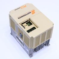 * SAFTRONICS CIMR-PCU23P7 DRIVE 5HP 6.7KVA 17.5A 0-230VAC 0-400HZ