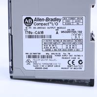 ALLEN BRADLEY 1769-OA16 A I/O MODULE COMPACTLOGIX 16 POINT