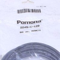 NEW POMONA  2249-C-120  RF COAXIAL CABLE ASSEMBLY BNC STRAIGHT PLUG 10 FT