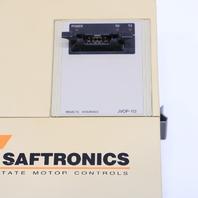* SAFTRONICS CIMR-PCU23P7 DRIVE JVOP-112 6.7KVA 17.5A 0-230VAC 0-400HZ