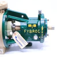* NEW FYBROC METPRO 1500 1x1.5x6 CORROSION RESISTANT FIBERGLASS PUMP
