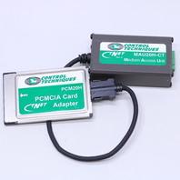 CONTROL TECHIQUES MAU20H-CT MEDIUM ACCESS UNIT W/ PCMCIA CARD ADAPTER