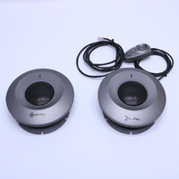 LOT OF 2 MITEL 5310 5004459 IP CONFERANCE SAUCER W/ MOUSE