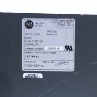 ALLEN BRADLEY 4100-202-RL 2 AXIS MOTION CONTROLLER W/ PC-658-0792 BACKPLANE