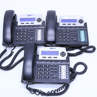 LOT OF (3) XBLUE NETWORKS EKT-CHARCOAL 1670-00 6-LINE OFFICE PHONES