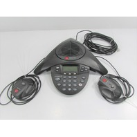 POLYCOM SOUND STATION 2 EXPANDABLE 2201-16200-601 w/ 2201-07155-601 CONFERENCE PHONE SYSTEM