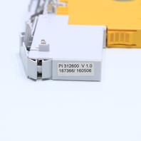 * PILZ 312200 PSSU E F 4DI 0.5 24VDC INPUT W/ 312600 TERMINAL CONNECTOR EXCL. *WARRANTY*