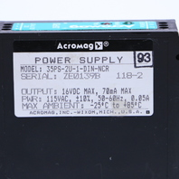ACROMAG 35PS 35PS-2U-1-DIN-NCR POWER SUPPLY .05AMP 16VDC 70MA MAX