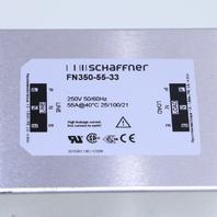NEW SCHAFFNER FN350-55-33 POWER LINE FILTER 55A 250VAC