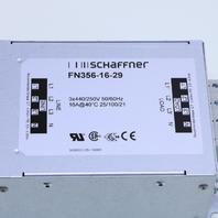 NEW SCHAFFNER FN356-16-29 NEUTRAL LINE FILTER 16A 440VAC