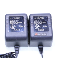 LOT OF (2) POLYCOM JOD-48U-04 P/N JOD-48-1199-3 AC POWER ADAPTERS