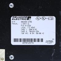 RELIANCE ELECTRIC 61C22B AUTOMATE LOCAL I/O HEAD 120VAC 0.5A 50/60HZ