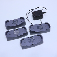 LOT OF (4) HONEYWELL AND ZELLWEGER 2302B0800 BASE STATION FOR GAS DETECTOR W/ (1) POWER ADAPTER