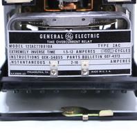 GE 12IAC77B810A TYPE IAC OVERCURRENT RELAY