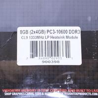 NEW VISIONTEK MEMORY 2 PK 4GB PC3-106000 DIMM PC