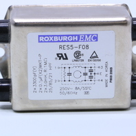 * ROXBURGH ELECTRONICS RES5-F08 NOISE FILTER 8AMP 250VAC 50/60HZ LOT OF (4)