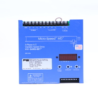 POWER ELECTRONICS MD346ECH-CC MICRO SPEED MD 3-PHASE A.C VARIABLE SPEED DRIVE