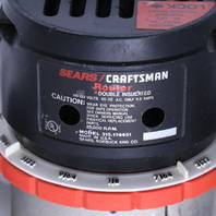 * CRAFTSMAN 315.174451 1HP DOUBLE INSULATED ROUTER