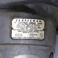 * CRAFTSMAN 315-27802 7in. 6000 RPM 100% BALL AND ROLLER BEARING SAW