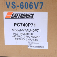 * NEW SAFTRONICS CIMR-V7AU40P7 PC7 MINI VECTOR AC DRIVE 2HP 2.8A 460VAC
