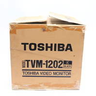 "NEW TOSHIBA TVM-1202 B/W VIDEO MONITOR 11"" #2"