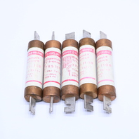 `` LOT OF (5) GOULD SHAWMUT TRS110R 110A 600V TRI-ONIC TIME DELAY FUSE