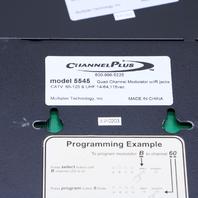 CHANNEL PLUS 5545 QUAD DIGITAL MADULATOR IR JACK W/ 2620 RACK MOUNT
