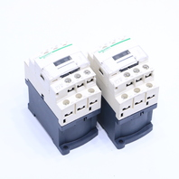 LOT OF (2) SCHNEIDER ELECTRIC CAD32 RELAY 600V 10AMP 24VDC COIL