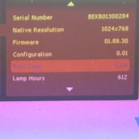 INFOCUS IN3114 DLP PROJECTOR 612 LAMP HOURS
