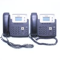 LOT OF 2 YEALINK SIP T21PE2 OFFICE PHONE