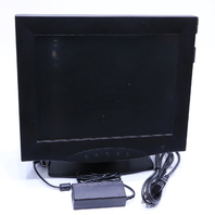 "* AMR FLAT PANELS 710A 15"" TFT LCD MONITOR BLACK TOUCH SCREEN"