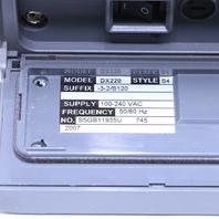YOKOGAWA DAQSTATION DX220-3-2/S120 STYLE S4 CHART RECORDER
