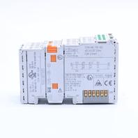 LOT OF (3) WAGO 750-402 INPUT MODULE 4 POINT DIGITAL 24 VDC