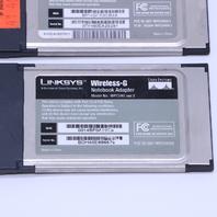 LOT OF (2) Linksys Wireless-G Notebook Adapter WPC54G 2.4GHz - 802.11g