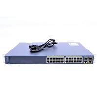 CISCO WS-C2960-24PC-L CATALYST 2960 24-PORT NETWORK ROUTER