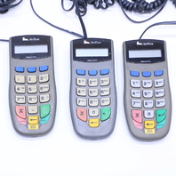 LOT OF (3) VERIFONE PINpad 1000SE P003-170-02-001 CREDIT DEBIT CARD TERMINALS