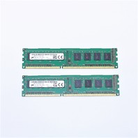 QTY.(2) MICRON 4GB 1RX8 PC3L-12800U-11-13-A1 RAM MEMORY