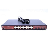 INTERLOGIX IFS NS3702-24P-4S 24-PORT GIGABIT ETHERNET PoE MANAGED SWITCH