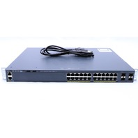 CISCO WS-C2960X-24PS-L PoE ETHERNET NETWORK SWITCH
