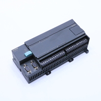* SIEMENS 6ES7 216-2AD23-0XB8 CPU MODULE  0.75AMP 21-28VDC 24KB 24IN 16OUT
