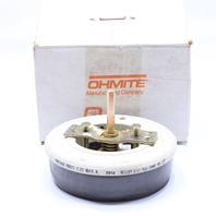 * NEW OHMITE MODEL N RNS200 RHEOSTAT 200 OHMS 1.22 A